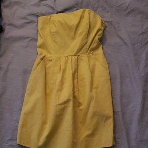 Rachel Roy Yellow Strapless Mini Dress